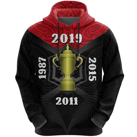 New Zealand Hoodie Champion Rugby World Cup 2019 K4 - 1st New Zealand