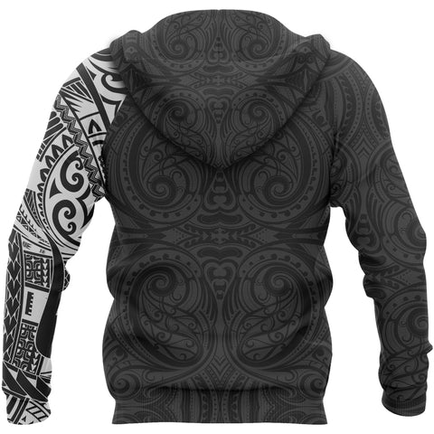 Image of Rugby Maori Tattoo New Zealand Zip Up Hoodie K5 - 1st New Zealand