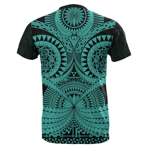 Polynesian Tattoo T-Shirt Turquoise 2 TH5 - 1st New Zealand
