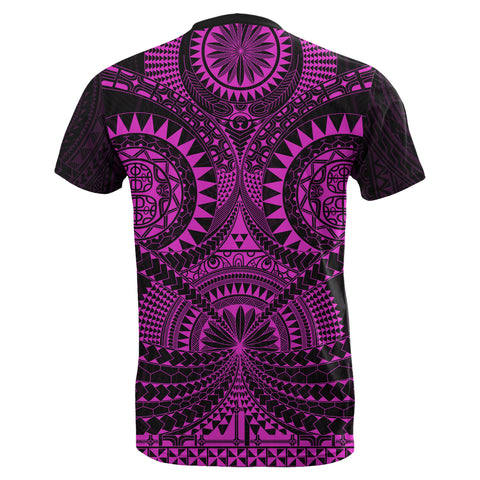 Polynesian Tattoo T-Shirt Purple TH5 - 1st New Zealand