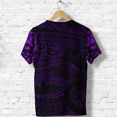 Image of New Zealand Shirt, Maori Tattoo Wolf Dragon T Shirt - Purple K4 - 1st New Zealand