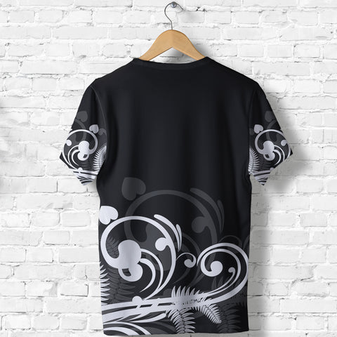 Image of Silver Fern New Zealand T Shirt - Black K5 - 1st New Zealand