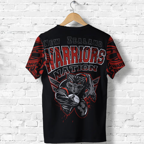 New Zealand Warriors T Shirt Unique Style back