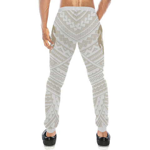 Maori Tangaroa Tattoo New Zealand Sweatpants with Golden mix White color - Back - For Men