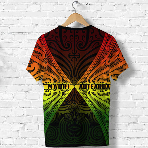Image of Maori Aotearoa Tribal Roots T Shirt Rasta back | Clothing | Love New Zealand
