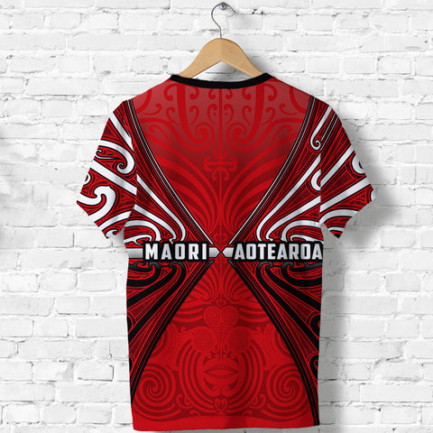Maori Aotearoa Tribal Roots T Shirt Red K4 - 1st New Zealand