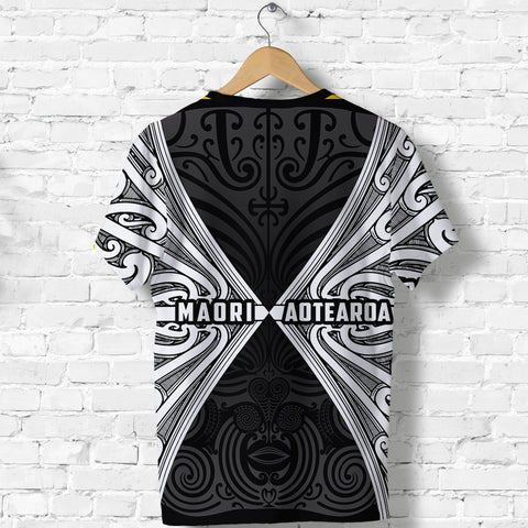 Image of Maori Aotearoa Tribal Roots T Shirt White | Clothing | Love New Zealand