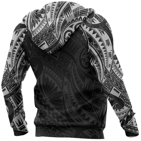 Image of Turtle Maori Tattoo All Over Hoodie White K4 - 1st New Zealand