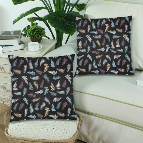 New Zealand Fern Leaves Pattern Zippered Pillow Cases 12 - 1st New Zealand