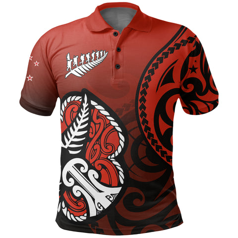 Image of Lest We Forget - Maori Poppy Pullover Polo Shirt Th00 - 1st New Zealand