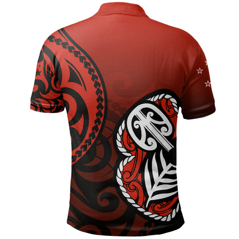 Lest We Forget - Maori Poppy Pullover Polo Shirt Th00 - 1st New Zealand