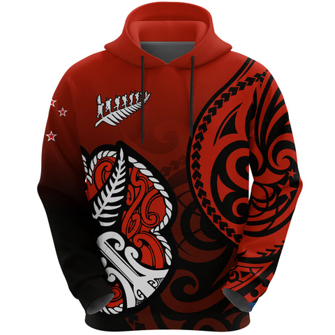 Image of Lest We Forget - Maori Poppy Pullover Hoodie Th00 - 1st New Zealand