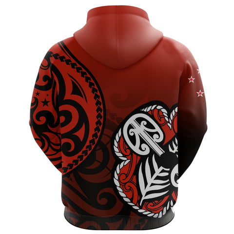 Lest We Forget - Maori Poppy Pullover Hoodie Th00 - 1st New Zealand