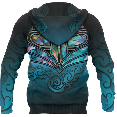 Image of New Zealand Warriors Hoodie Paua Shell back