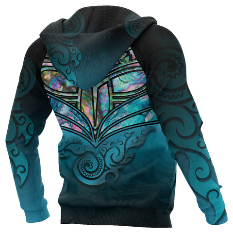 Image of New Zealand Warriors Hoodie Paua Shell back 2