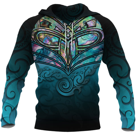 New Zealand Warriors Hoodie Paua Shell K4 - 1st New Zealand