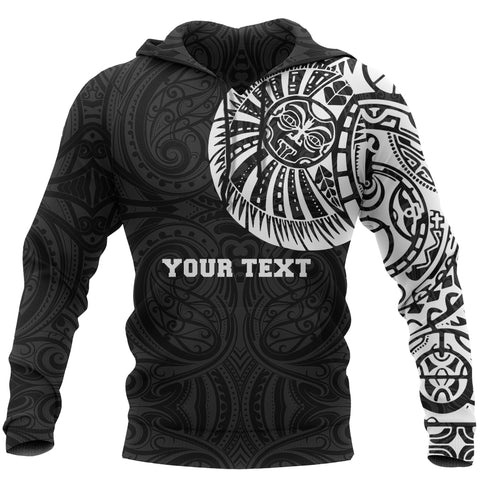 Maori Hoodie, Maori Warrior Tattoo Pullover Hoodie - Customized A75 - 1st New Zealand