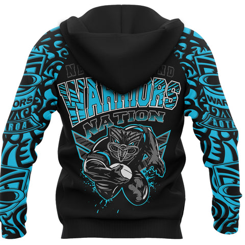 New Zealand Warriors Hoodie Unique Style Blue K4
