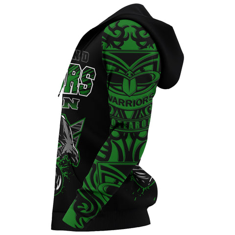 Image of New Zealand Warriors Hoodie Unique Style Green K4
