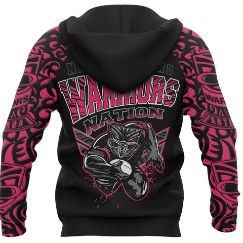 New Zealand Warriors Hoodie Unique Style Pink back