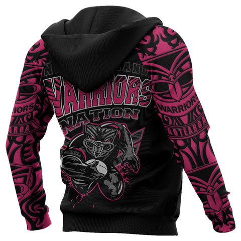 Image of New Zealand Warriors Hoodie Unique Style Pink K4