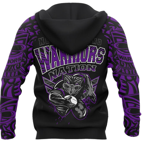 New Zealand Warriors Hoodie Unique Style Purple back
