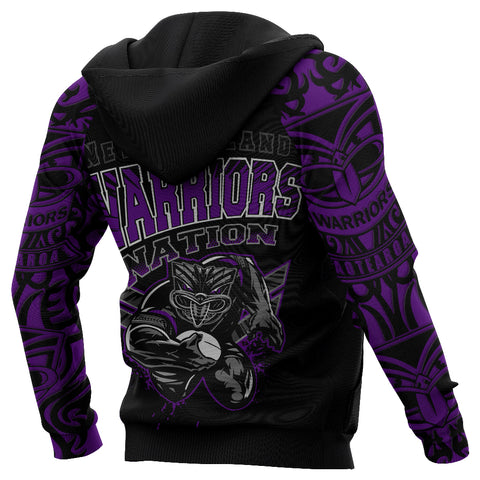 Image of New Zealand Warriors Hoodie Unique Style Purple