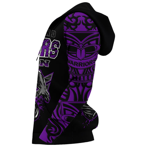 Image of New Zealand Warriors Hoodie Unique Style Purple K4