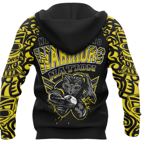 New Zealand Warriors Hoodie Unique Style Yellow back