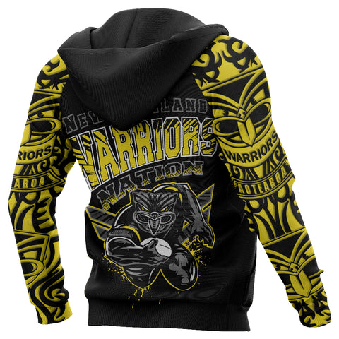 New Zealand Warriors Hoodie Unique Style Yellow
