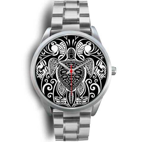 Maori Turtle Tattoo Silver Watch TH5