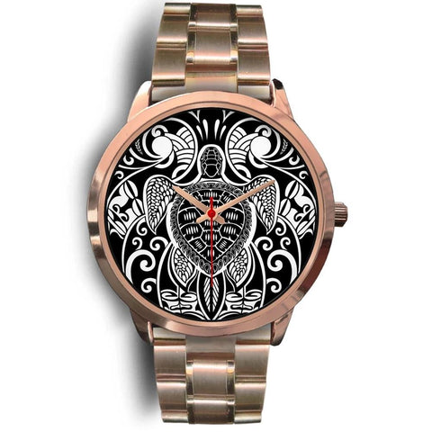 Maori Turtle Tattoo Rose Gold Watch TH5