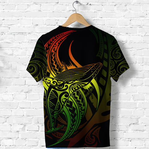 Maori Shirt Whale Tattoo, Humpback Whales New Zealand T Shirt Rasta K4 - 1st New Zealand