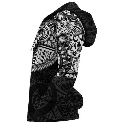 New Zealand Hoodie, Maori Tattoo Wolf Dragon Pullover Hoodie - White K4 - 1st New Zealand