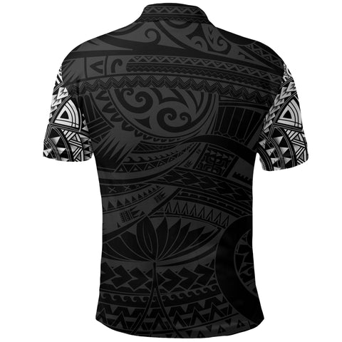 New Zealand Polo Shirt, Maori Tattoo Wolf Dragon Golf Shirt - White K4 - 1st New Zealand