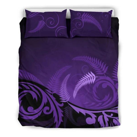 New Zealand Silver Fern Bedding Set - Purple H55 - 1st New Zealand