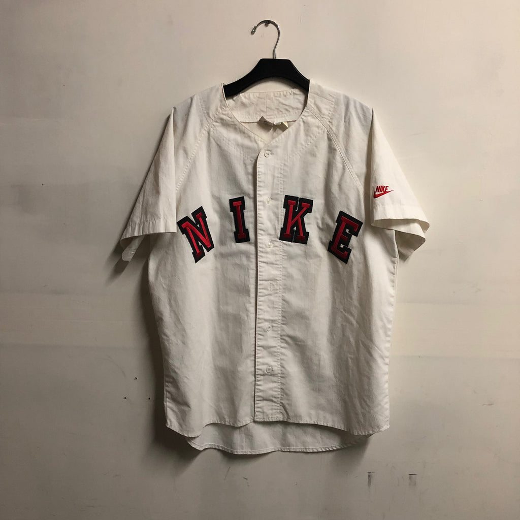 VTG 90s Nike In House Baseball Team Jersey Mens SZ L Employee Owned Sewn Grey Tag Jordan Softball A2