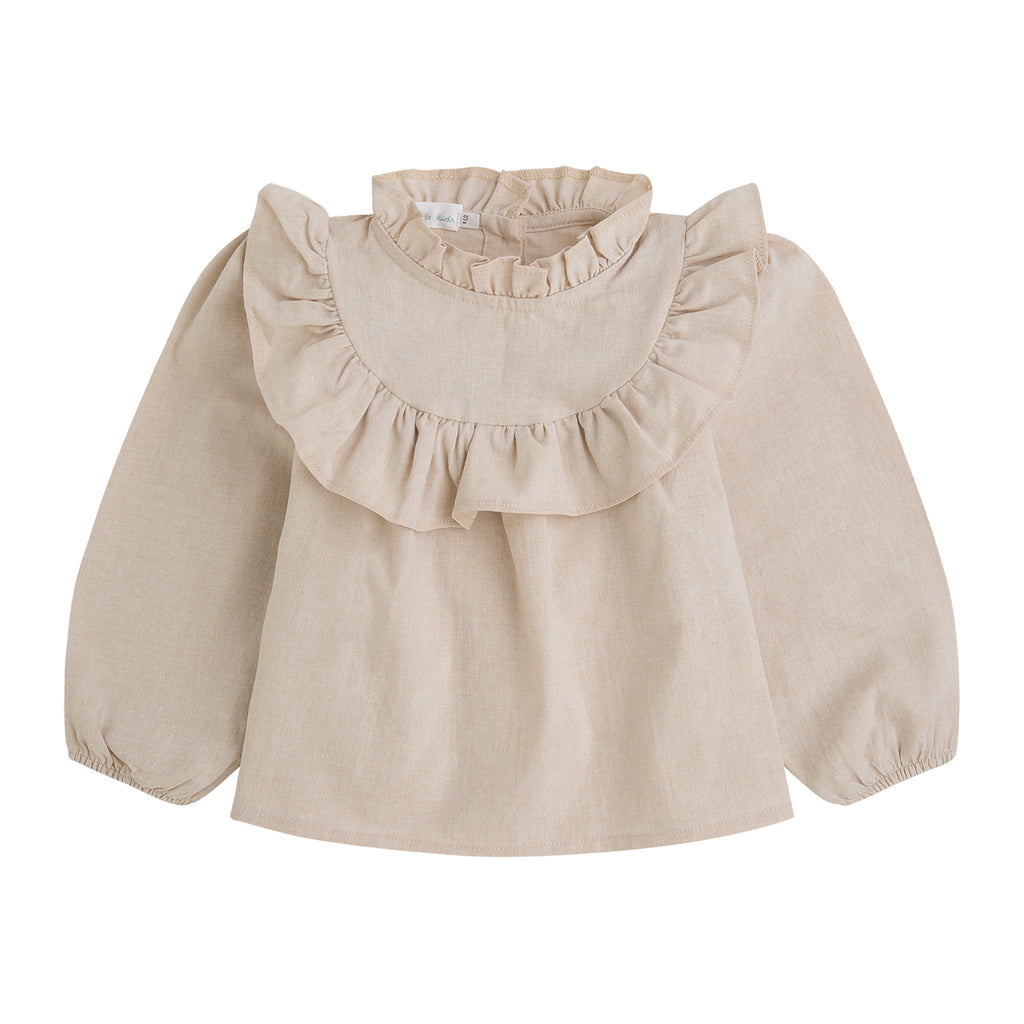 Federica blouse - Natural jaspeado