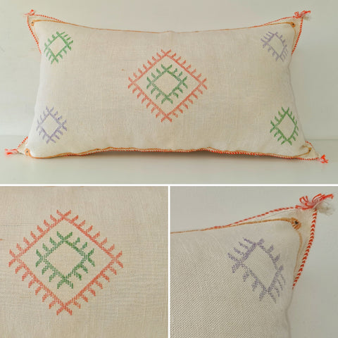 white XL Moroccan sabra Cactus Pillow cover