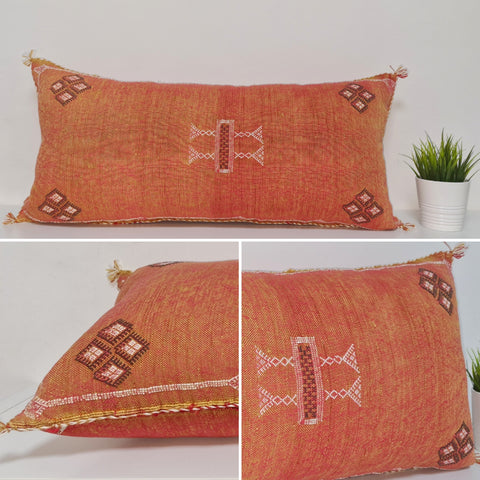 Orange  XL Moroccan sabra Cactus Pillow cover