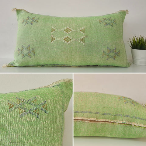 green XL Moroccan sabra Cactus Pillow cover