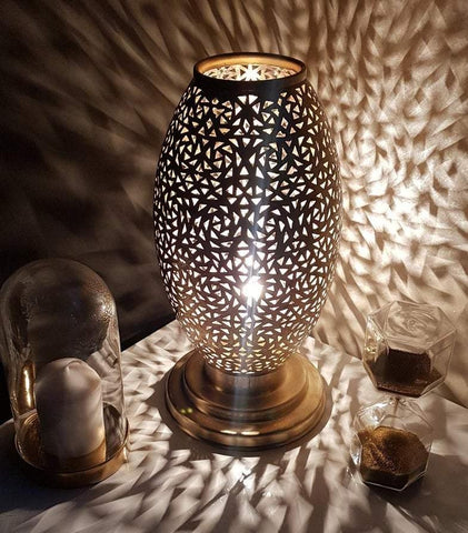 Brass moroccan table lamp shades