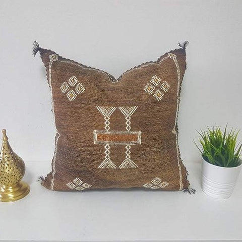 Brown Sabra Pillow