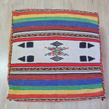 Vintage colourful moroccan pouf