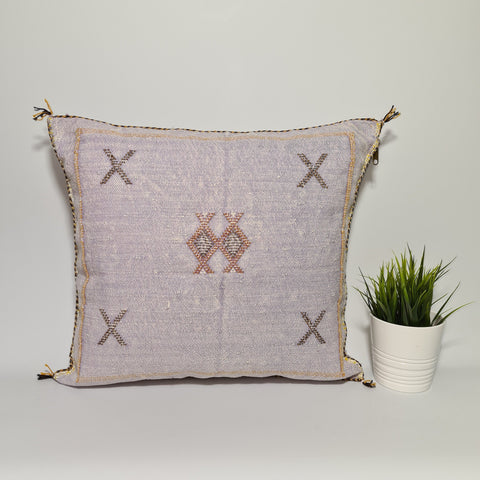 Light  purple cactus sabra cushion cover for your living room , bohemian handmade berber Moroccan Bohemian cactus pillow cover