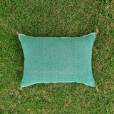 Light green Moroccan Lumbar Sabra Cushion Cover , Cactus Silk Pillow Throw