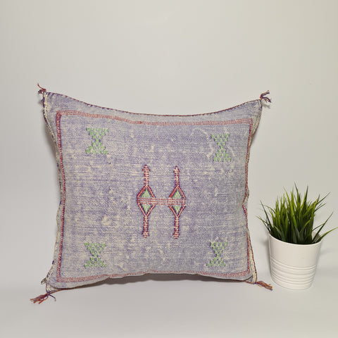 Soft purple sabra Cactus Pillow cover  , handmade berber Moroccan Bohemian cactus cushion cover