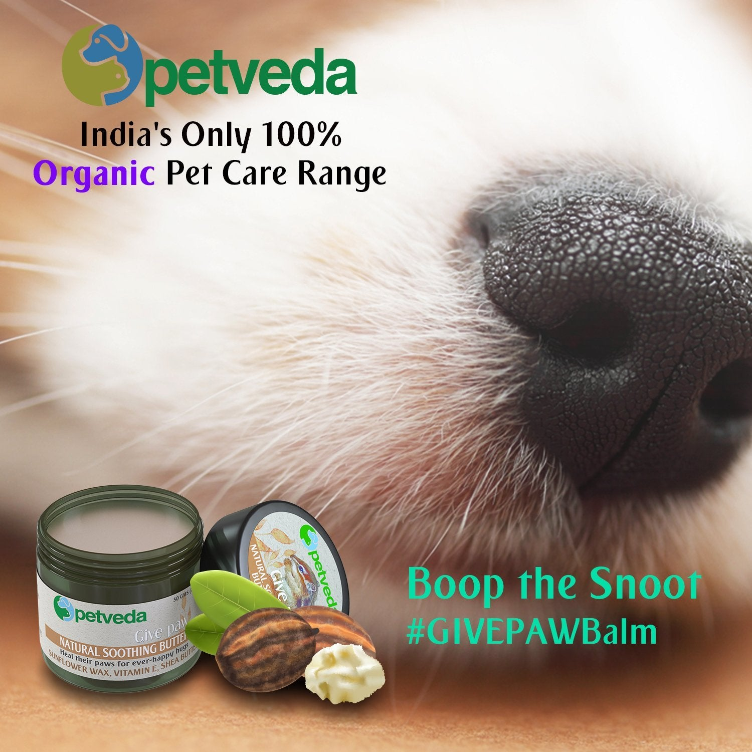Give Paw - Natural Soothing Butter (Paw, Nose & Elbow Balm) 30gm