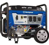 The Westinghouse WH10000DF portable dual fuel generator on a white background.