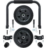 Portable generator wheel kit on white background.